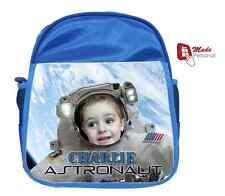 Personalizado Niños Mochila Bolsa Astronauta Espacio Diseño-Regalo-cualquier Nombre Y Foto