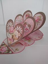 Handmade 3D Easel design card with decoupage and matching envelope for Her