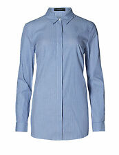 Marks and Spencer Women's Striped Collared Casual Tops & Shirts