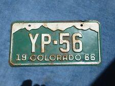VINTAGE ORIGINAL COLORADO 1966 YP 56 License VEHICLE Tag Man Cave Reissue.