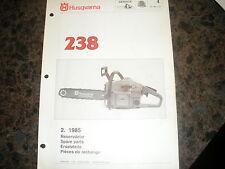 husqvarna 238 chainsaw,2 1985 illustated parts list,vintage chainsaw