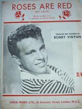 Vintage Bobby Vinton ROSES ARE RED (My Love) MUSIC SHEET record 1962
