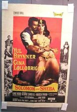1959 Original Movie Poster SOLOMON & SHEBA Yul Brynner