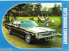 1973 DODGE CORONET opuscolo catalogo con colore carta: personalizzato