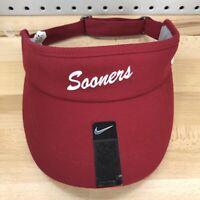 Oklahoma Sooners NCAA College NIKE Sideline Crimson Red Sun Visor NWT Hat NEW