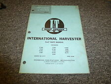 International Harvester IH F560 I560 I660 B275 I330 Tractor Flat Rate Manual