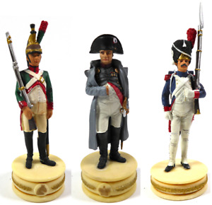 Lot 3 Soldats de Plomb Premier Empire Napoléon Dragon Grenadier 1/32 60mm LS18