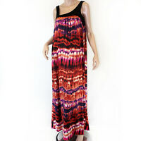 Karen Zambos Vintage Couture Multi-color Sleeveless Amber Maxi Dress Small