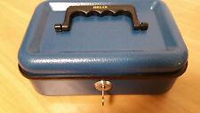 Helix Cash box Money Mgr -  BLUE AUD  6 compartments plus notes underneath