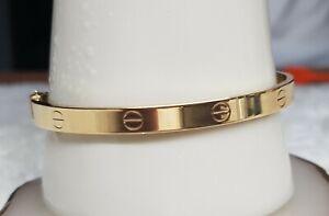 Genuine 18k Solid Saudi Gold Bangle 19 cm Screw Type
