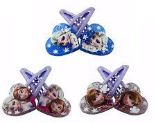 6 Haarspangen Haarklammer Königin Elsa Prinzessin Anna Frozen Kinder Mädchen Neu