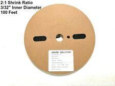 "3/32"" ID  BLACK 100 FT  2:1 Single Wall Heat Shrink Tubing"