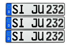 3x KFZ Kennzeichen | Nummernschilder | Autokennzeichen | Autoschilder 520x110mm