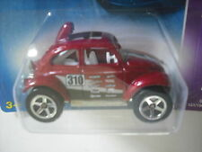2008 HOT WHEELS VW BAJA BUG RED with GRAPHICS # 3 of 4 - 5 SPOKE TEAM VOLKSWAGEN