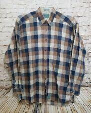 Baxter Brand Natural Clothing Mens Medium Plaid Linen Blend LS Button Down Shirt