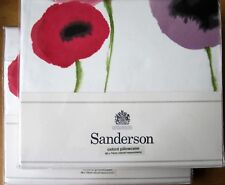 SANDERSON Oxford Pillowcase PAIR New POPPIES PINK/LILAC