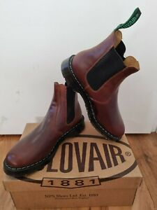 NPS SOLOVAIR Brown Greasy Leather Dealer Chelsea Boot Size 7