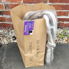 Blueface Leicester (BFL) 300g bag of natural humbug combed wool top