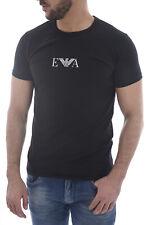 EMPORIO ARMANI Black Signature Chest Logo T-Shirt Top Tee Size XL BNWOT