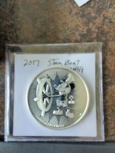 2017 Niue Steamboat Willie Disney 1 Ounce .999 Fine Silver Coin