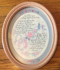 "Home Interiors ""Walking With Grandma"" Oval Picture 13""x11"" Framed Matted Vguc"