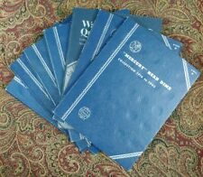 Seven UNUSED Assorted Whitman Blue Coin Folders