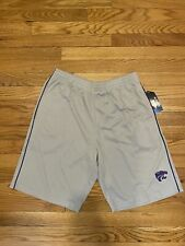 Men's K-State Wildcats Colosseum Gray Gym Shorts With Front Pockets Sz L