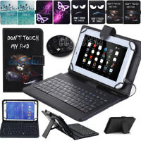 """US For Samsung Galaxy Tab E 9.6 / 8.0"""" Tablet Case Stand Cover with USB Keyboard"""