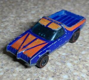 1973 Mattel Hot Wheels Redline Flying Colors Breakaway Bucket Car Blue Vintage