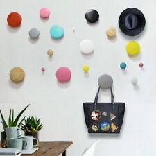 Wall Robe Hook Coat Hangers Keys Clothes Wood Handbag Holders Japan Style Decor