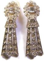 Vintage Kenneth Jay Lane KJL Crystal Rhinestone Dangle Runway Earrings