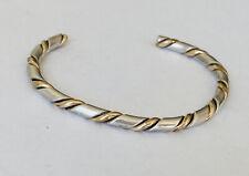 "Vintage Navajo Twisted Rope Sterling Silver Cuff Bracelet 6.5"""