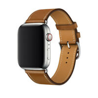 New Brown Leather Strap iWatch Band Herme Belt For Apple Watch Series 54/3/21 OZ