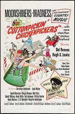 COTTONPICKIN' CHICKENPICKERS original 1967 movie poster DEL REEVES/DAVID HOUSTON