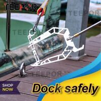 TEEPOR - Telescopic Boat Hook and Rope for Boat