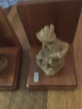 Brienz Carved Bookends Children Playing Instruments