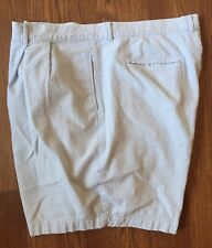 Men's Pendleton Cotton Seersucker Shorts Blue And White SZ 42 Pleated