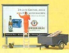 H0 Preiser 10526 Colla poster, Tabellone affissioni accessori. conf.orig.