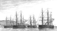 PLYMOUTH SOUND. German ironclad fleet Deutschland;Friedrich Karl;Kronprinz, 1876