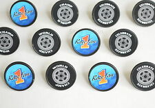 12 Speedway Racing Race Car Cup Cake Rings Kid Party Goody Loot Bag Favor Supply