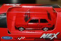 FIAT 126 ROSSO - 1987 - SCALA 1/43 WELLY