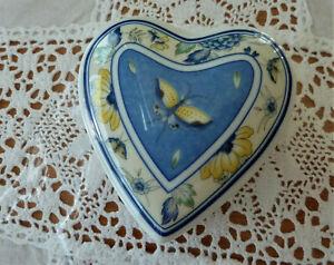 Hutschenreuther Medley Papillon kleine Herzdose neu