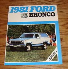 Original 1981 Ford Bronco Sales Brochure 81