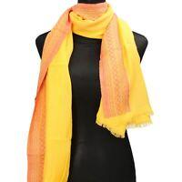 pareo stola sciarpa donna NALI' giallo cotone AF448