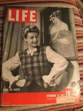 VINTAGE NOVEMBER 16,1942 LIFE MAGAZINE FEATURING WOMENS WARM FOR WINTER VN COND