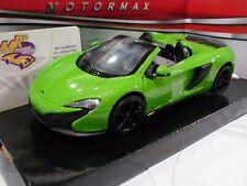 """MotorMax 79326-1 # McLaren 6505 Spider Cabrio Baujahr 2015 """"grün-metallic """"1:24"""