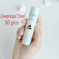 Hot 10pcs Outdoor Disposable Compressed Travel Towel Cotton Towel Mini Face Care