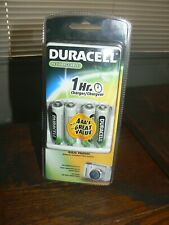 Duracell 1 Hour Charger + 4AA Rechargeable NiMH Batteries CEF80NC Brand New