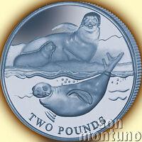 2017 CRABEATER SEAL - Blue TITANIUM Coin in BOX+COA British Antarctic Territory