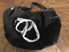 Willsons Leather Black Suede Handbag